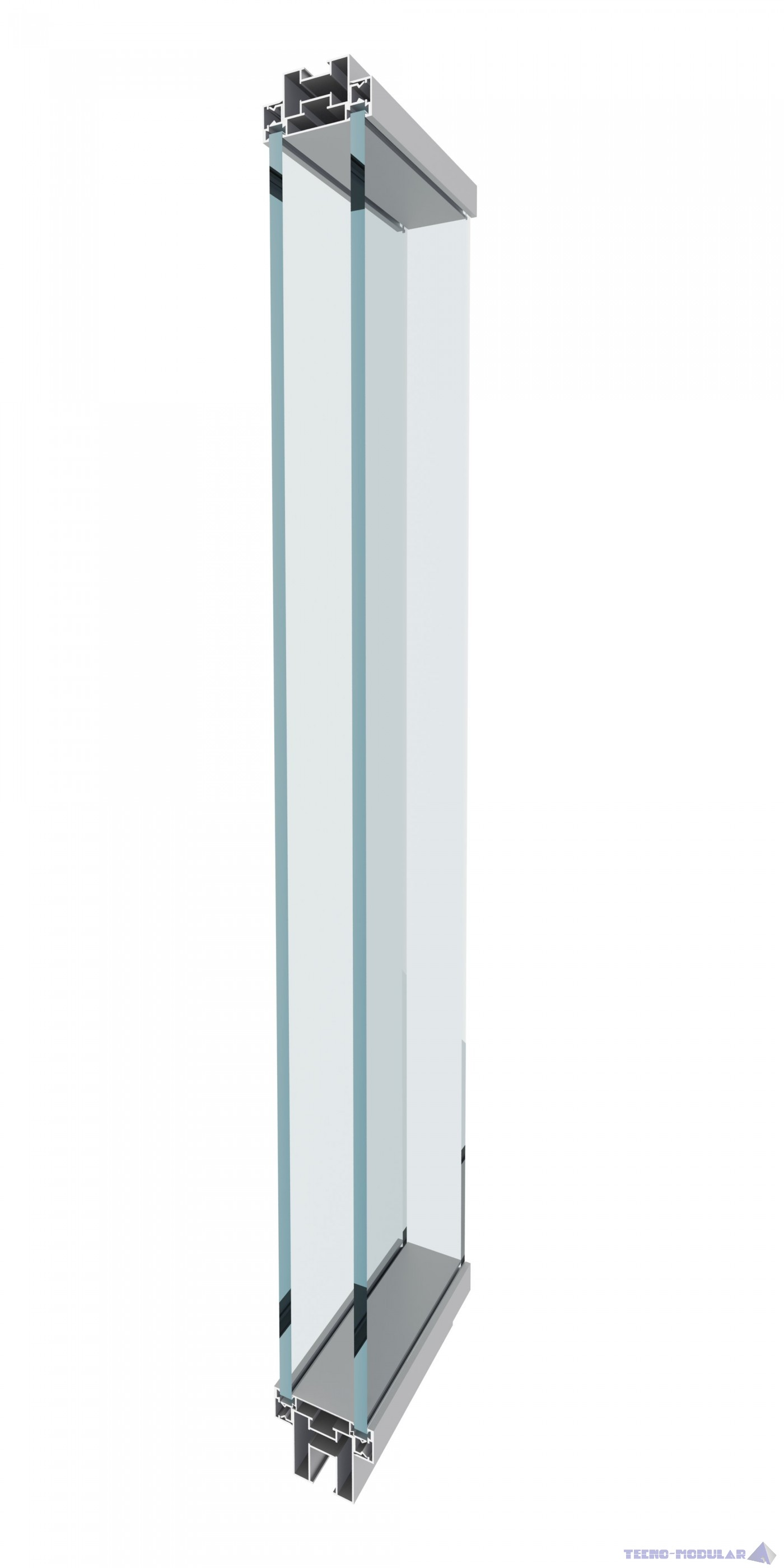 Mamparas de oficinas AST-1 Vidrio contínuo laminar o templado de suelo a techo